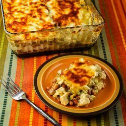 Layered Mexican Casserole with Chicken, Green Chiles, Pinto Beans, and Cheese — Punchfork