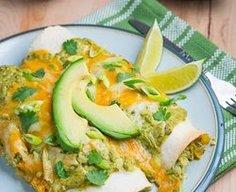 Chicken and Avocado Enchiladas in Creamy Avocado Sauce — Punchfork