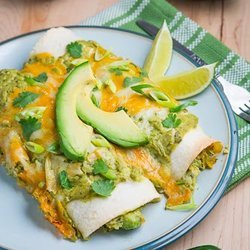 Chicken and Avocado Enchiladas in Creamy Avocado Sauce — Punchfork
