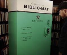 Biblio-Mat – a lucky dip vending machine for used books