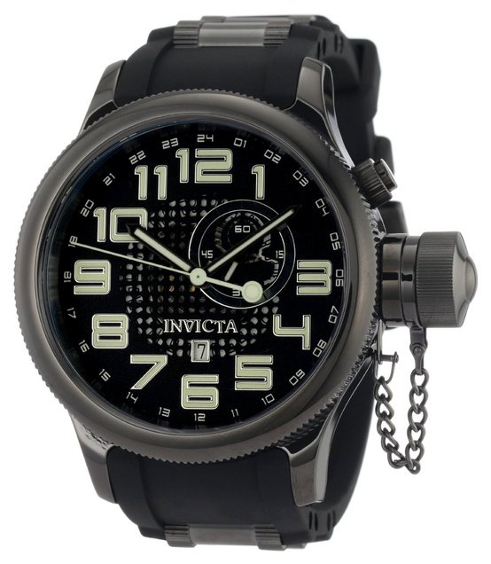 Invicta Men's 5861 Russian Diver Black Dial Polyurethane Watch