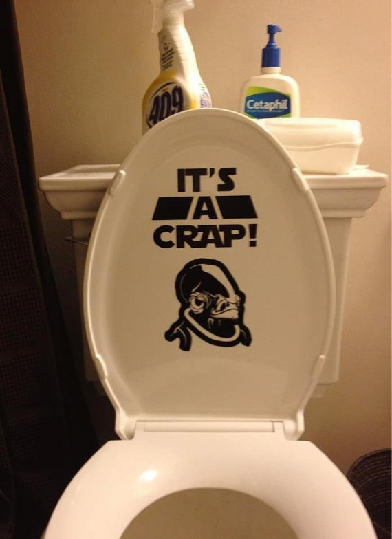 It's a CRAP: Star Wars inspired Admiral Ackbar toilet sticker art