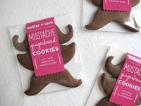 Gingerbread Mustache Cookies