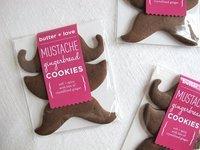Gingerbread Mustache Cookies