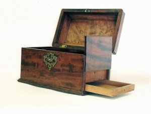 Tea Caddy with Secret Drawer Compartment Wooden Tea Caddy with Secret Compartment  – StashVault