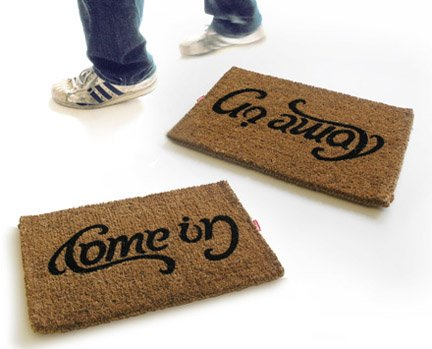 Come In/Go Away Doormat by Sam & Jude for Suck UK - Free Shipping
