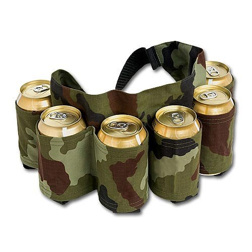 Camo Six Pack Beer Belt Holder