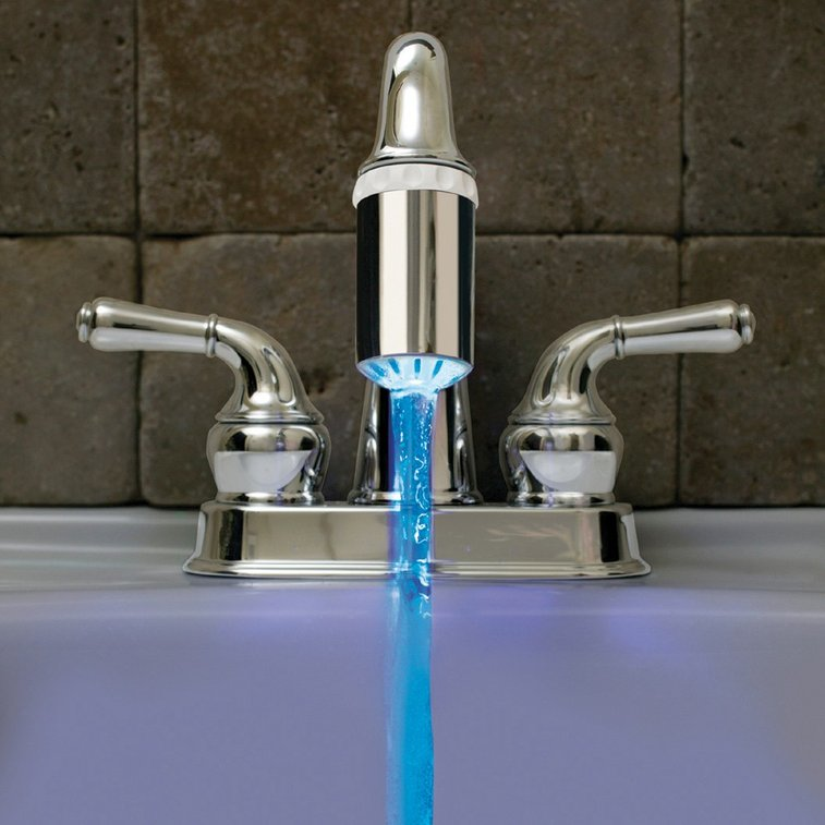 LED Temperature Faucet Light | Five Dollar Finds