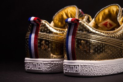 "UNDFTD x PUMA | Clyde ""Gametime"" 24k Metallic Gold Sneaker"