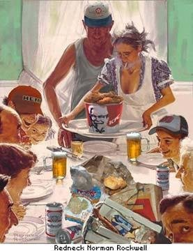 White Trash Thanksgiving Normal Rockwell Style