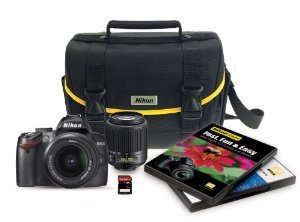 Nikon D3000 10.2 MP Digital SLR 6 Piece Bundle
