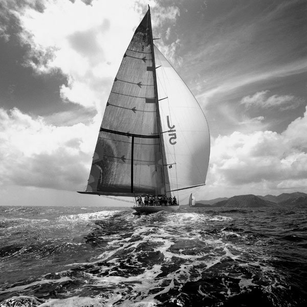 Sailing black and white fine art photography by photographer Michael Kahn