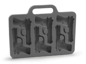 Handgun-Shaped Ice-Cube Tray