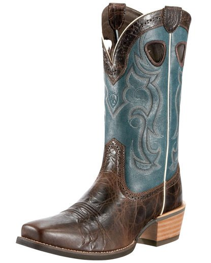 Ariat Men's Rawhide Square Toe Boot - Thunder Brown/Beach Side