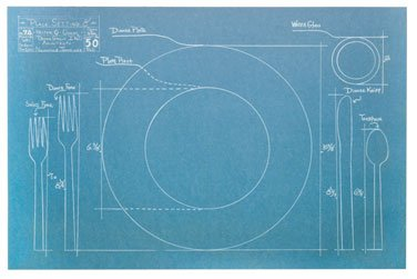 Blueprint Paper Placemats