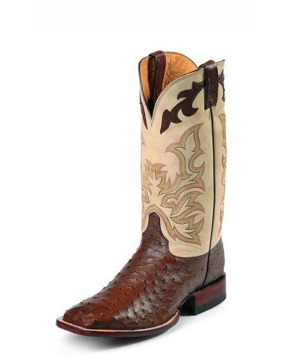 Justin Men's Antique Brown Full Quill Ostrich Boot - 8500