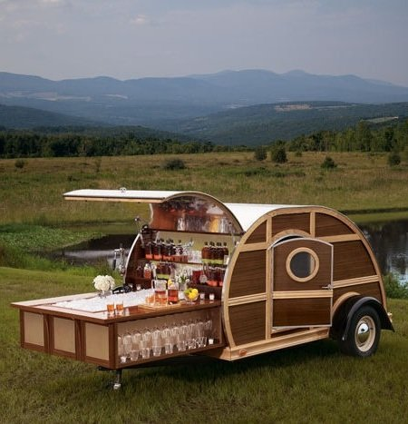 Bulleit Frontier Whiskey Woody Tailgate Trailer.