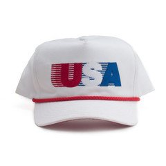 All American Rope Hat - White – Campus Retro