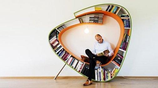 Bookworm wrap-around chair beckons bibliophiles