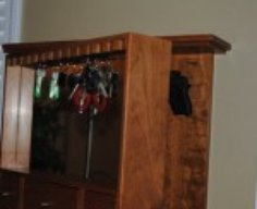 Key Rack with Secret Gun Compartment   StashVault