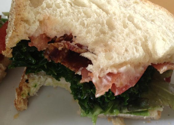 The Bacon Kale & Tomato sandwich