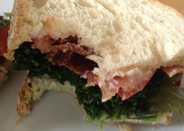 The Bacon Kale & Tomato sandwich