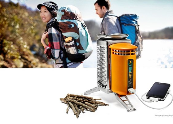 BioLite Stove - Charges your phone while cooking with twigs!
