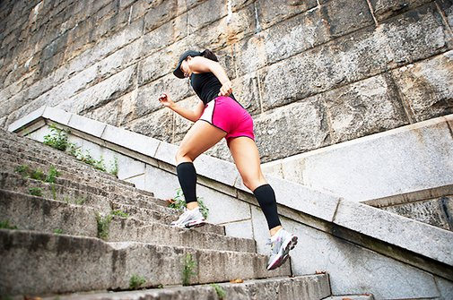 If you have a staircase, you can get a GREAT workout!