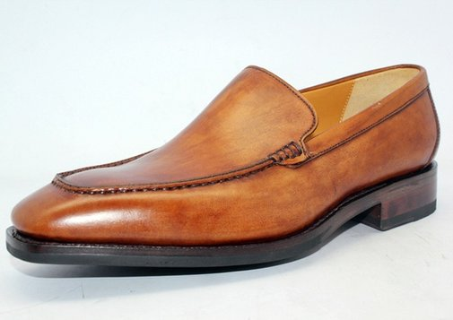 Hand Coloring Tan Calf  Loafer