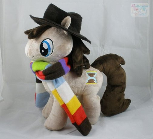 """The Fourth Doctor As a Huggable """"My Little Pony"""" Plush"""
