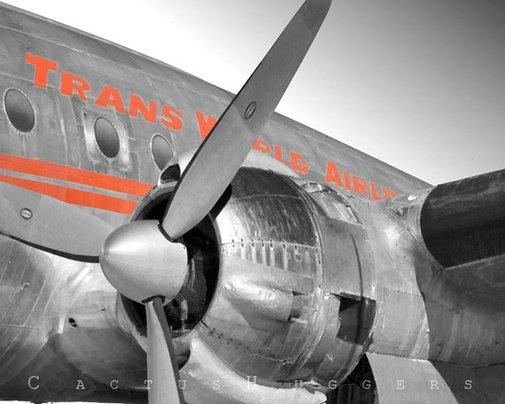 TWA Constellation Vintage Airplane Art Photograph by MurrayBolesta