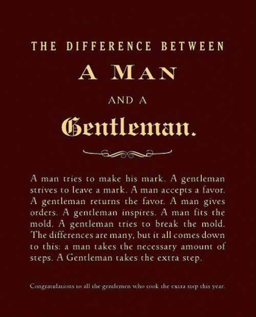 Man / Gentleman
