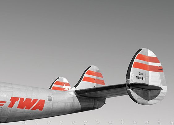 TWA Constellation Vintage Airplane Art 8x10 by MurrayBolesta
