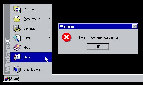 Windows 95: There is nowhere you can run