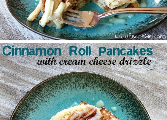 How to make cinnamon roll pancakes.