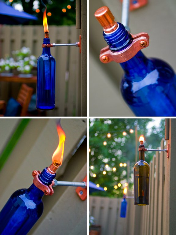 Wine Bottle Design | Recycled Wine Bottle Torch | Package Design Firm | Sustainable Packaging