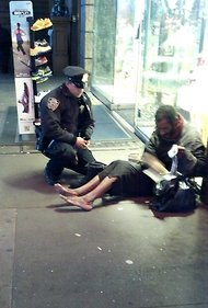 Photo of Officer Giving Boots to Barefoot Man Warms Hearts Online