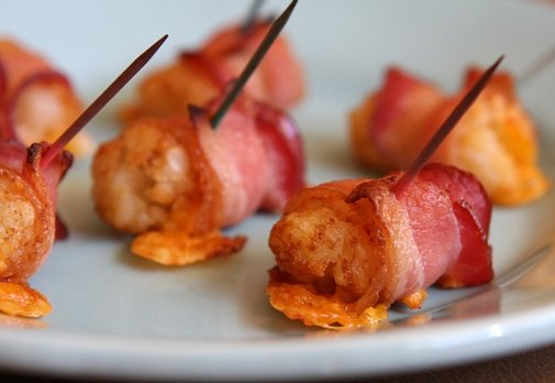 Bacon- Wrapped Tater Tots