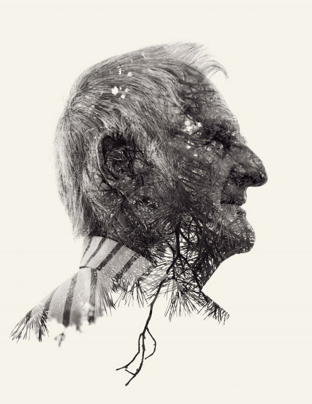 We Are Nature: New Multiple Exposure Portraits by Christoffer Relander