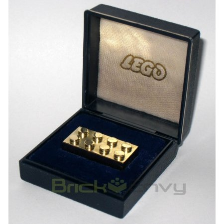 14k Solid Gold LEGO Employee Brick 2x4 Brick in Display Box