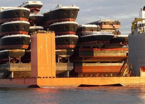 A ship shipping ships