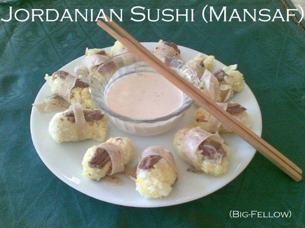 Mansaf Sushi - The Jordanian Sushi