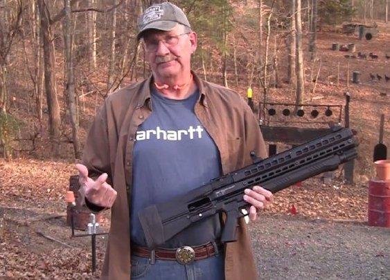 Zombie Slayer: Man Showing Off New 15-Round Shotgun | Geekologie