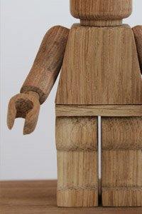 """Giant wooden """"LEGO"""" figs"""