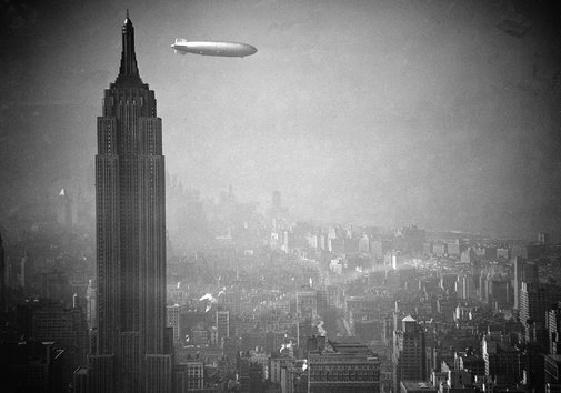 The Hindenberg and the Empire State Building, 1936