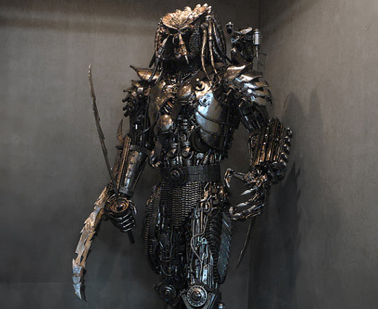 Life Size Predator Metal Sculpture