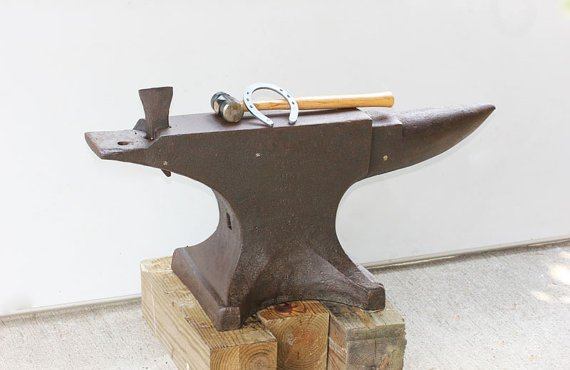 400 lb Pound Peter Wright Anvil Antique original by MollyFinds