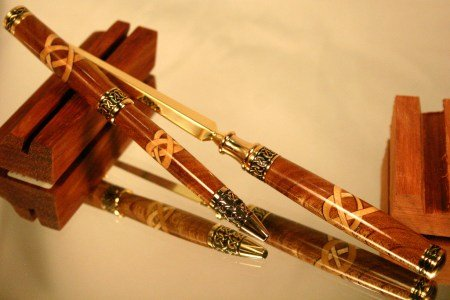 Handcrafted wood Celtic pen letter opener set by Hope & Grace Pens