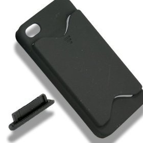Black Credit Card ID Case for Apple iPhone 4, 4S
