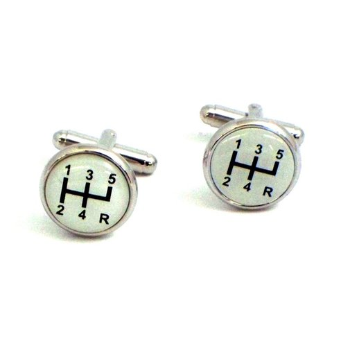 Bey-Berk Rhodium-Plated Cufflinks with Shifter Design - Cuff Links at Hayneedle